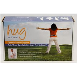 "NEW! ""HUG"" DYNAMIC LUMBAR SUPPORT"
