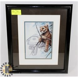 SUE COLEMAN FRAMED AND TRIPLE MATTED PRINT