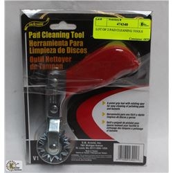 LOT OF 2 PAD CLEANING TOOLS