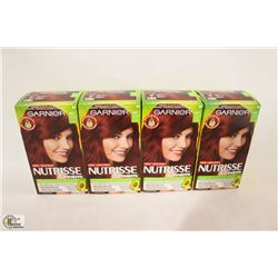 BAG OF ASSORTED GARNIER HAIR DYE