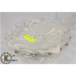 SET OF 2 GLASS SERVING DISHES