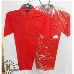 LOT OF 3 NEW RED ARROW GOLF SHIRT