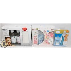 BOX OF SPA ITEMS OLAY, OMBRA  & AMOPE PEDI PERFECT