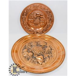 SET OF 2 COPPER CRAFT PICTURES