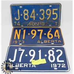 LOT OF ASSORTED LICENSE PLATES 1972, 1973, 1974