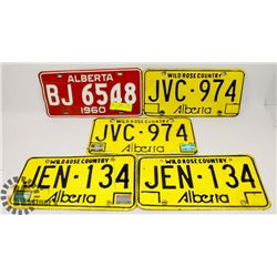 LOT OF ASSORTED LICENSE PLATES 1960'S & MORE