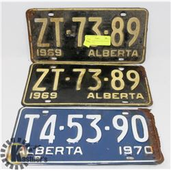 LOT OF ASSORTED LICENSE PLATES 1969 AND 1970