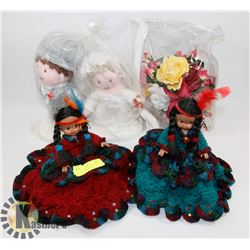 LOT OF ASSORTED, SET OF 2 DOLL AIR FRESHENER COVERS