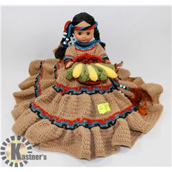 INDIAN DOLL ORNAMENT BROWN DRESS