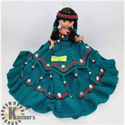 INDIAN DOLL ORNAMENT BLUE DRESS