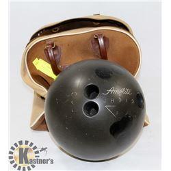 BLACK 10 PIN BOWLING BALL