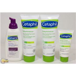 BAG OF CETAPHIL LOTIONS AND CREAMS