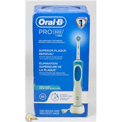 ORAL B PRO 500 ELECTRIC TOOTHBRUSH