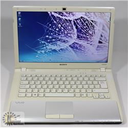 SONY VAIO WIN 7 PRO LAPTOP WITH AC ADAPTOR