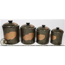 LOT OF 4 KITCHEN CANNISTERS