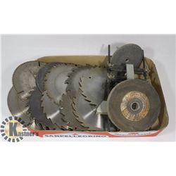 ESTATE FLAT OF ASSORTED SAW BLADES AND MORE