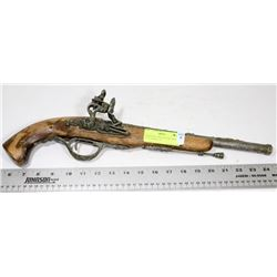 REPLICA FLINTLOCK, 18TH CENTURY, PISTOL, 12-1/2""