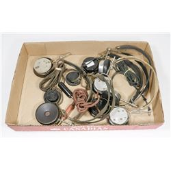 5 SETS OF 1930S ANTIQUE EAR PHONES