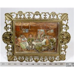 VINTAGE BRASS 3D STYLE PICTURE FRAME ART.
