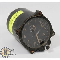 WWII AIRPLANE ALTIMETER.