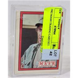 1982 MASH TRADING CARD SET.