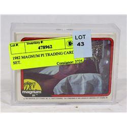 1982 MAGNUM PI TRADING CARD SET.