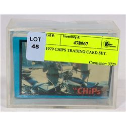1979 CHIPS TRADING CARD SET.