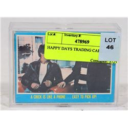 HAPPY DAYS TRADING CARD SET.