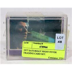 1977 SATURDAY NIGHT FEVER TRADING CARD SET.
