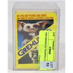 1990 GREMLINS TRADING CARD SET.