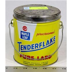 VINTAGE MAPLE LEAF TENDERFLAKE TIN