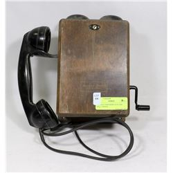 ANTIQUE NORTHERN ELECTRIC WALL PHONE.