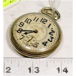 LATE 1800'S WALTHAM 23 JEWEL LEAVER SET POCKET