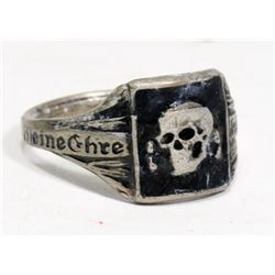 REPLICA NAZI SS SKULL HEAD RING