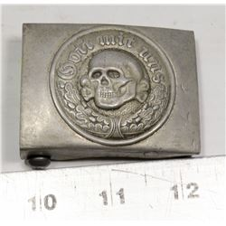 REPLICA NAZI SS SKULL HEAD TOTENKOPF BELT BUCKLE