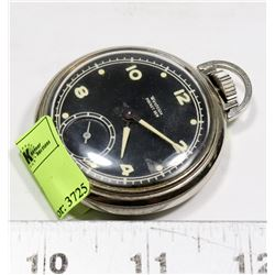 1950S BLACK DIAL WESTCLOX POCKET WATCH.