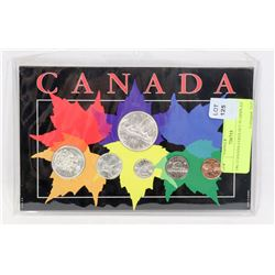 1961 CANADIAN COINS SET IN DISPLAY