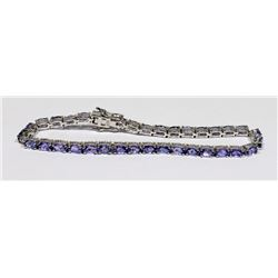 LADIES SILVER TENNIS BRACELET STAMPED 925 WITH