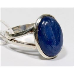 STERLING SILVER BLUE KYANITE RING SIZE 7.