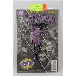 DC COMICS CAT WOMAN 50TH ISSUE COMIC BOOK.