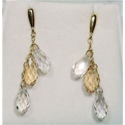 SWAROVSKI CRYSTAL DROP EARRINGS.