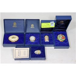 COLLECTION OF HALCYON DAYS ENAMEL TRINKET BOXES