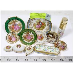 COLLECTION OF 12 PIECES OF LIMOGES