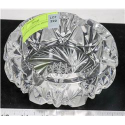 PINWHEEL CRYSTAL ASHTRAY