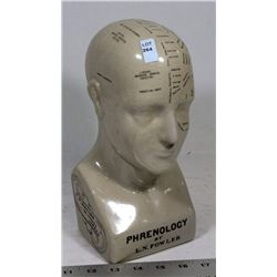 ANTIQUE PHRENOLOGY DISPLAY BY L.N. FOWLER OF