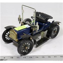 BLUE MODEL T JIM BEAM CAR.