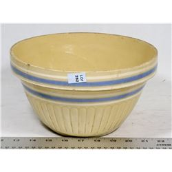 YELLOW & BLUE VAND ANTIQUE BOWL.