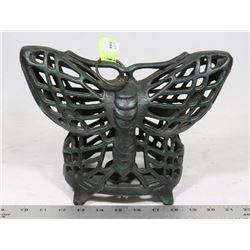 ANTIQUE HANGING CAST IRON BUTTERFLY LANTERN