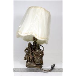 VINTAGE CAST BRASS FIGURE LAMP
