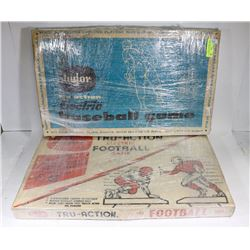 LOT OF 2 VINTAGE TUDOR BOARD GAMES- BASKETBALL AND